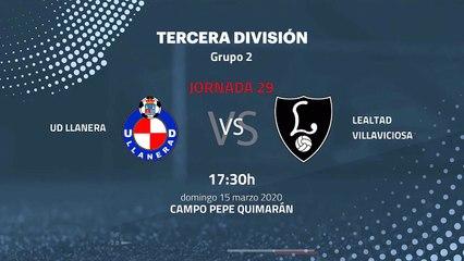 Previa partido entre UD Llanera y Lealtad Villaviciosa Jornada 29 Tercera División
