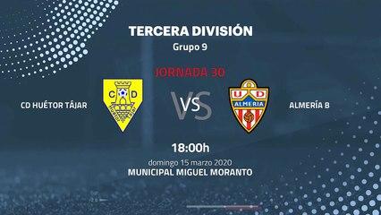 Previa partido entre CD Huétor Tájar y Almería B Jornada 30 Tercera División