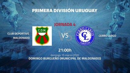 Previa partido entre Club Deportivo Maldonado y Cerro Largo Jornada 4 Apertura Uruguay