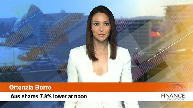 ASX Bloodbath: Aus shares 7.8% lower at noon