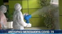 Cegah Virus Corona, Stasiun Gambir Disemprot Disinfektan