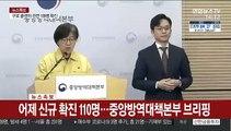 [현장연결] 어제 신규 확진 110명…중앙방역대책본부 브리핑
