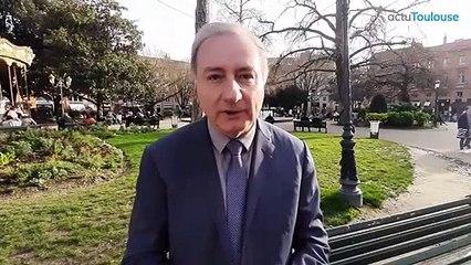 Jean-Luc Moudenc, candidat de la liste Aimer Toulouse aux Municipales à Toulouse