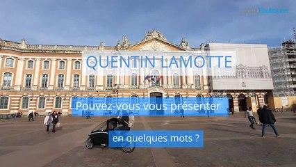 Quentin Lamotte, candidat du Rassemblement toulousain pour les Municipales à Toulouse