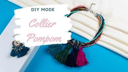 DIY Mode : comment faire un collier pompom