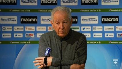 La conférence de presse de Francis Graille suite à la suspension du championnat de Domino's Ligue 2