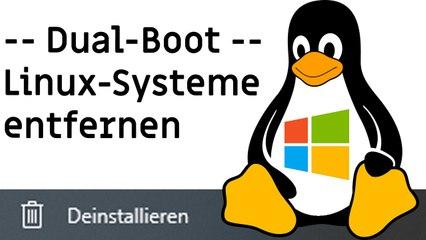 """[TUT] Linux entfernen / löschen / """"deinstallieren"""" [4K   DE]"""