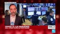 COVID-19, la pandémie : le bourses en forte baisse