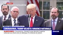 """Coronavirus: Donald Trump """"ne souhaite pas que tout le monde se rue sur le système de santé parce qu'ils ont certains symptômes"""""""