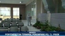 Cegah Virus Corona, Terminal Penumpang di Pelabuhan Tanjung Priok Disemprot Disinfektan