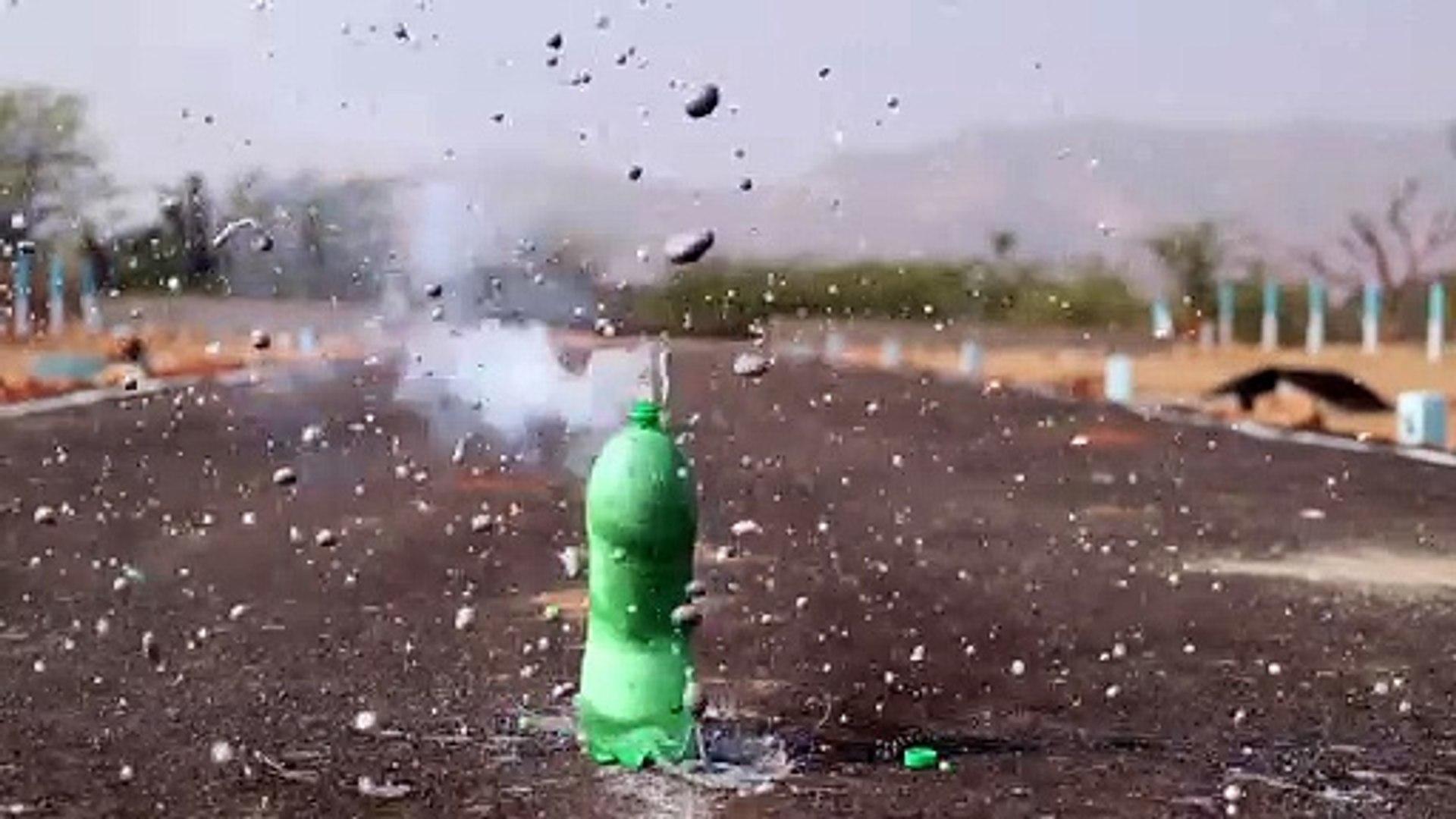 rocket in coldrink bottle