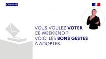 Ce dimanche, c'est le 1er tour des élections : conservez les gestes barrières pour vous protéger et protéger les autres