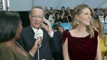 Tom Hanks and his wife paired up at an event