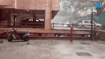 Heavy Rain, Hailstorm in parts of Delhi NCR