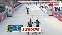 L'arrivée de la poursuite à Kontiolahti remportée par Martin Fourcade - Biathlon - CM (H)