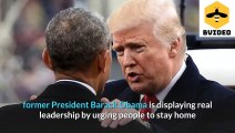Barack Obama shows Donald Trump how to lead during a pandemic in 2 tweets