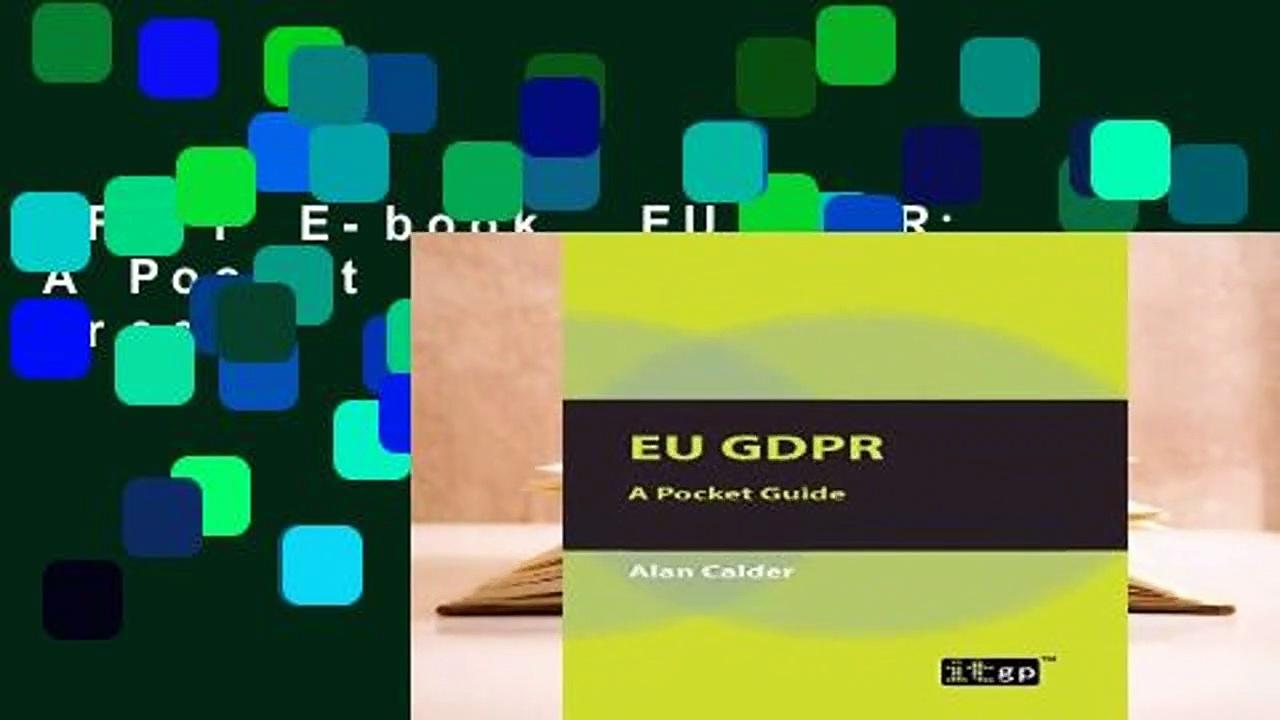 Full E-book  EU GDPR: A Pocket Guide  For Free