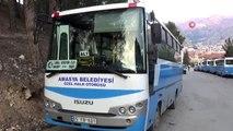 Belediye otobüsleri korona virüsüne karşı dezenfekte edildi