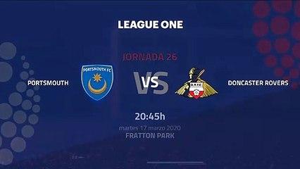 Previa partido entre Portsmouth y Doncaster Rovers Jornada 26 League One