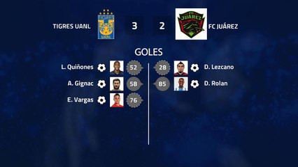 Resumen partido entre Tigres UANL y FC Juárez Jornada 10 Liga MX - Clausura