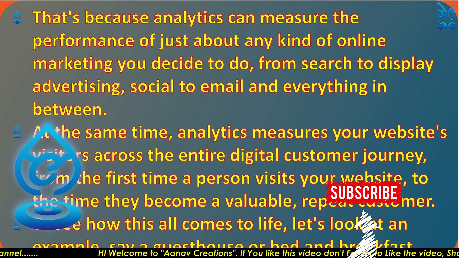 Making web analytics work for you |   @Aanav Creations   | Digital Marketing | Class 84 | Analytics tool |  @Technical Maanav