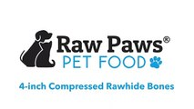 Raw Paws Pet Premium 4-inch Compressed Rawhide Bones for Dogs - | | PuppySimply