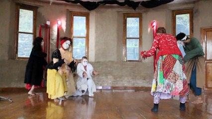 Decisions a butoh performance by Happy Ghosts (Adhila, Aisha, Delia,  Misaki, Myo, and Nui