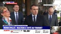 """Emmanuel Macron: """"On va continuer à aller faire ses courses, donc était légitime de pouvoir sortir pour aller voter"""""""