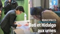 Municipales : Rachida Dati et Anne Hidalgo ont voté avec précaution