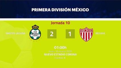 Resumen partido entre Santos Laguna y Necaxa Jornada 10 Liga MX - Clausura