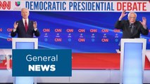 Biden and Sanders face off in first one-on-one debate