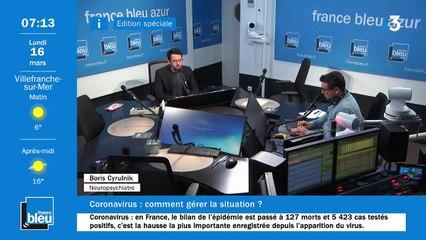 La matinale de France Bleu Azur du 16/03/2020