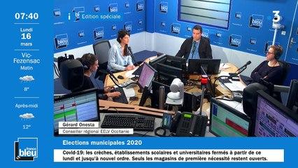 La matinale de France Bleu Occitanie du 16/03/2020