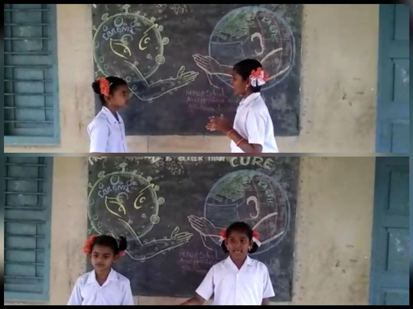 Governament School kids Awareness Act On Corona Virus