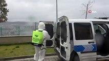 Polis araçlarına korona virüs tedbiri