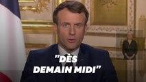 Macron, dans son discours du 16 mars, annonce la restriction obligatoire des déplacements