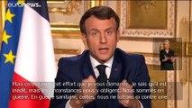 """Coronavirus : Macron ordonne aux Français de se confiner pour gagner """"la guerre sanitaire"""""""
