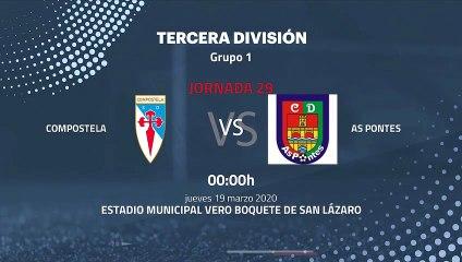Previa partido entre Compostela y As Pontes Jornada 29 Tercera División