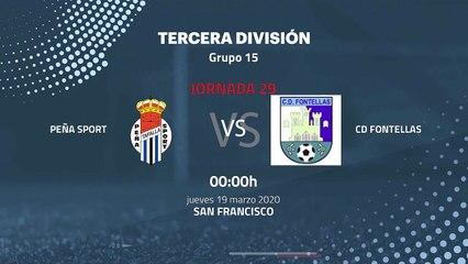 Previa partido entre Peña Sport y CD Fontellas Jornada 29 Tercera División