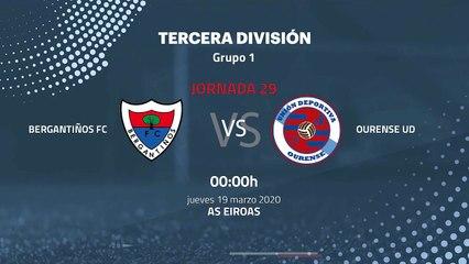 Previa partido entre Bergantiños FC y Ourense UD Jornada 29 Tercera División