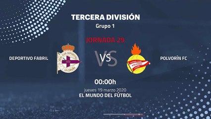 Previa partido entre Deportivo Fabril y Polvorín FC Jornada 29 Tercera División