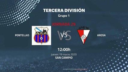 Previa partido entre Pontellas y Arosa Jornada 29 Tercera División