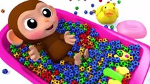 Lernen Sie Farben Baby Affe Futball Bad Zeit Fingerlied Kinderlieder Für Kinder