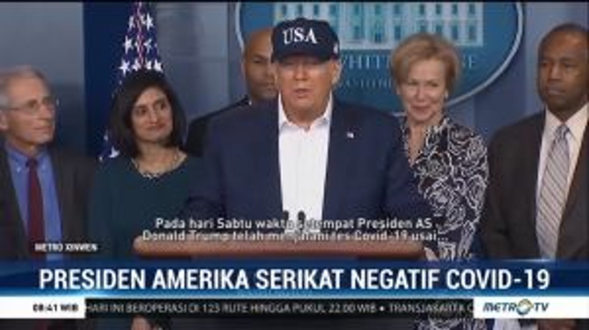 Donald Trump Negatif Virus Corona