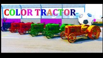 Learn number with tractor color - Spiderman cartoon for kids - Video for children