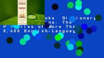 About For Books  Dictionary of Word Origins: The Histories of More Than 8,000 English-Language