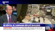 Le général Dominique Trinquand donne des précisions sur le rôle de l'hôpital de campagne déployé en Alsace