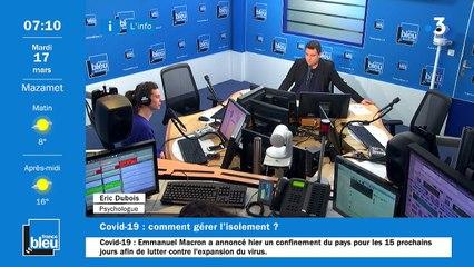 La matinale de France Bleu Occitanie du 17/03/2020