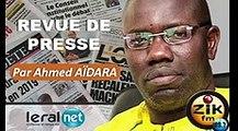 ZikFM - Revue de presse Ahmed Aidara du Mardi 17 Mars 2020