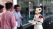 Robots in southern India used to dispense masks, napkins and hand sanitiser during COVID-19 pandemic